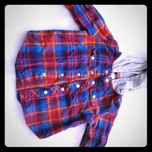 Hoodie flannel for baby boys
